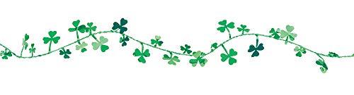 Amscan 22301 Saint Patrick's Day Shamrocks Wire Garland, 12', Green