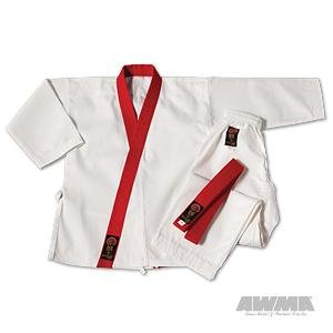 ProForce Gladiator 7.5oz GUP Trimmed Tang Soo Do Uniform - Red - Size 00
