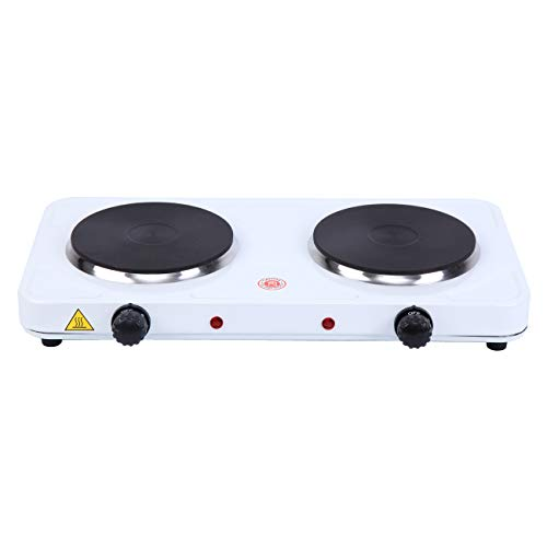 XuanYue Portable Electric Double Buffet Burner 2000W Portable Countertop Stove Heater with Temperature Control for Fast Cooking at Home, in Office, Buffet, Small Apartment (Portable Buffet Range)