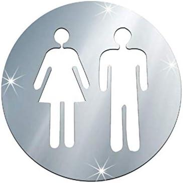 Man Woman Washroom Toilet WC Wall Sticker DIY Mirror Door Fun Decal Vinyl Decor