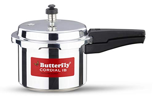 Butterfly Cordial Induction Base Aluminium Pressure Cooker, 3 litres, Silver