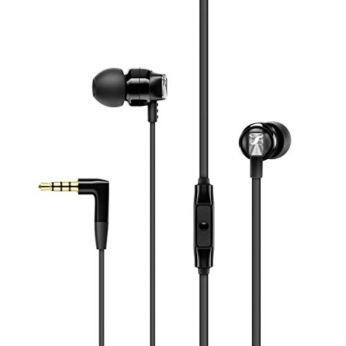 Sennheiser CX 300S In Ear Headphone with One-Button Smart Remote - Black