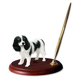 Conversation Concepts Cavalier King Charles Spaniel Dog Desk Set - Tri - Dog Set Desk