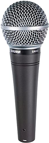 Microfono Shure SM48 Cardioid Dynamic Vocal with Shock-Mount