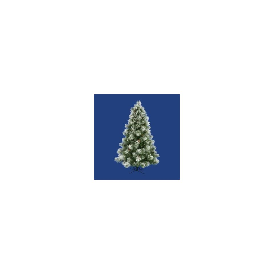 Artificial Christmas Tree. Big and Bold Frosted Scotch Pine Full Pre lit Tree