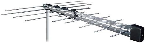 Metronic 525017 Antena logaritmica de Interior, Gris
