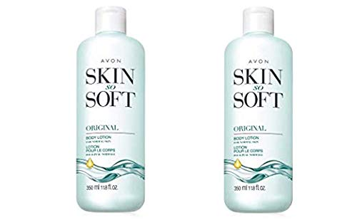 Lot of 2 Avon Skin So Soft Original + Jojoba Body Lotion 11.8 oz. ea. by Skin so soft