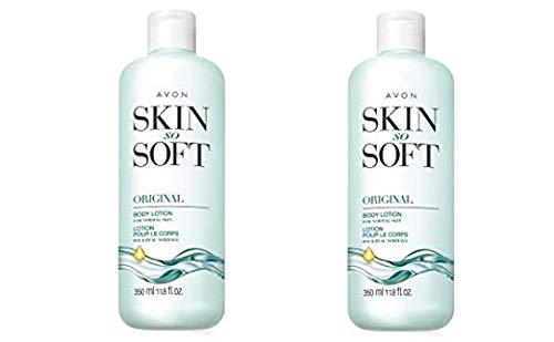 Lot of 2 Avon Skin So Soft Original + Jojoba Body Lotion 11.8 oz. ea.