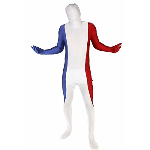France Costume For Male (Morphsuits Mens France Flag Halloween Party Costume Set Red M)