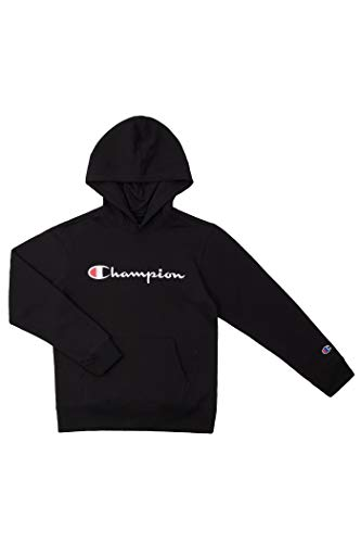 Champion Youth Heritage Fleece Sweatshirt Big and Little Boys (Heritage Black, Large)