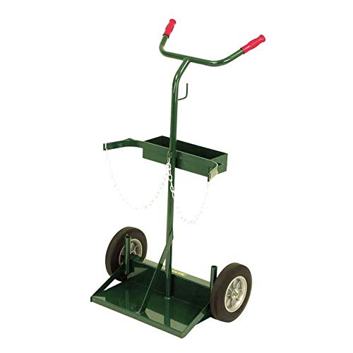 Harper Trucks 142-86 46-Inch High by 28-Inch Wide Deluxe Welding Cylinder Hand Truck with 10-Inch Solid Rubber Wheels by Harper Trucks