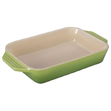 Le Creuset Stoneware Rectangular Dish, 10.5-Inch by 7-Inch, Palm
