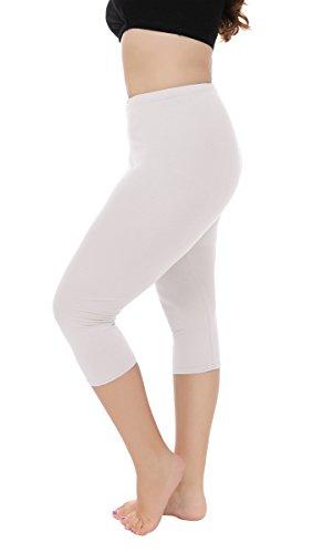 Women's Plus Size Capri Leggings 3/4 Length Leggings Modal Comfortable Leggings