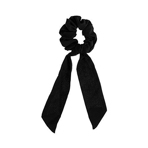 Hair Accessories Rubber Ropes Elastic Hair Rope Ponytail Scarf Floral Bow Scrunchie Hair Bow Ties(13 Black)