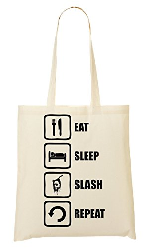 Eat À Sleep Graphic Halloween Tout Sac Slash Provisions Repeat Sac Inspired Myers CP Fourre WEw7SW