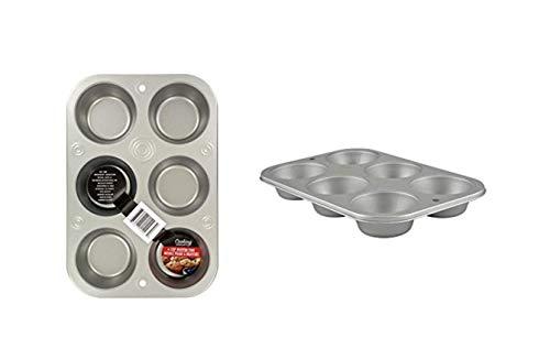 Muffin Cupcake Baking Tin. Stainless Steel Cupcake Tray.Oven Cooking Baking Pan. Dishwasher Safe. Muffin Baking Cupcake Pans 6-Cup.