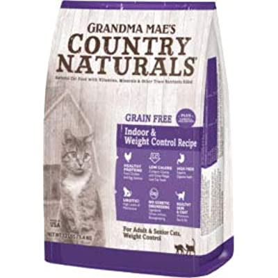 Grandma Mae S Country Nat-Country Naturals Grain Free Weight Control/hairbal 4 Lb