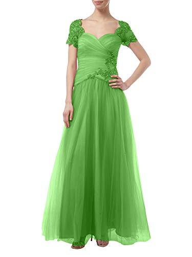 Spitze Linie Grün Marie La Rock Festlichkleider A mit Tuell Brautmutterkleider Kurzarm Braut Prinzess Rosa Festlich I7w4qw