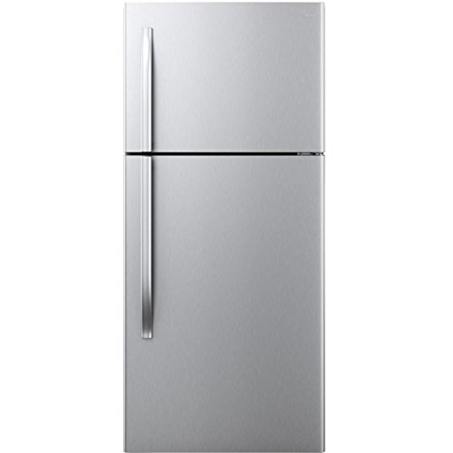 18 cu. ft. Top Mount Refrigerator -Stainless Steel