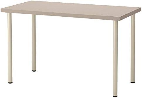 IKEA linnmon/adils Mesa, Escritorio geométrico Beige, 120 x 60 cm ...