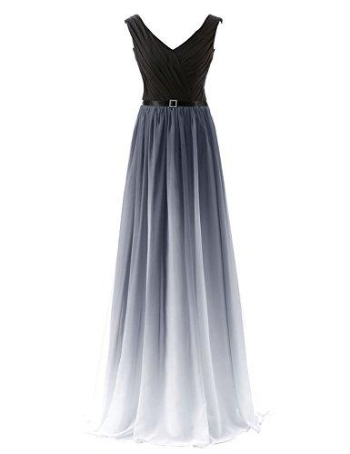 Sarahbridal Damen Kleid Gr. 46, Grey-341