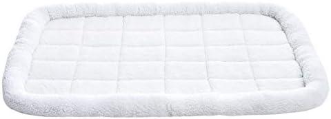 Amazon Basics Faux-Sherpa Padded Bolster Pet Bed