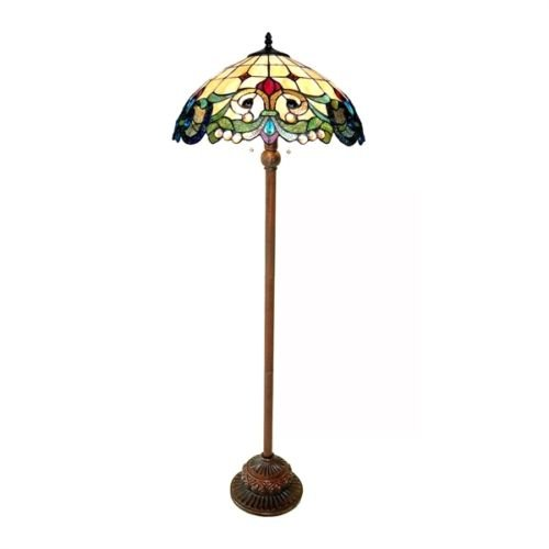 Victorian Copper Parts (Victorian Tiffany Style Stained Glass Floor Lamp Shade)
