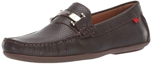 MARC JOSEPH NEW YORK Mens Leather Made in Brazil Bryant Park Driver Driving Style Loafer Brown Grainy 10 M US