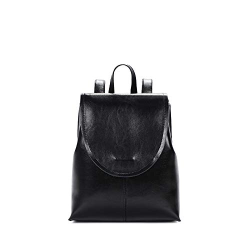 Female Women's Shoulder Backpack New Bag Black Shuangjian qxzwpfUFF