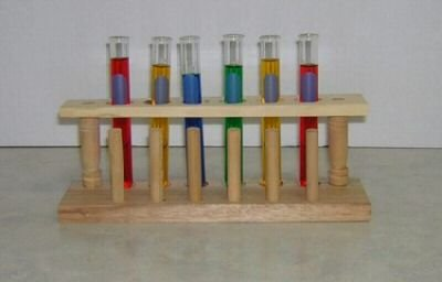 20X150mm Glass Test Tubes With Wooden Rack, Karter Scientific 201A9 (Pack Of 6)
