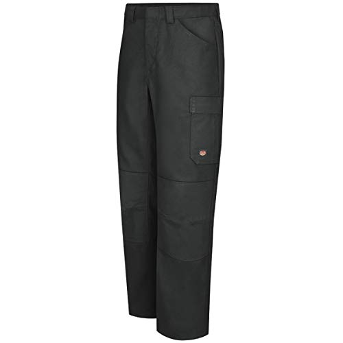 Red Kap 42'' X 30'' Black 8 Ounce Polyester/Cotton/Spandex Pants With Button Closure by BULWARKRED KAP (Image #1)