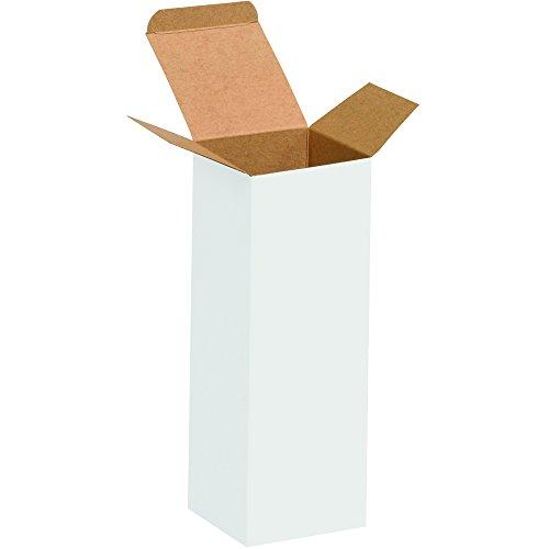 4 White Reverse Tuck Folding - Aviditi RTS19W Reverse Tuck Folding Cartons, 2 1/2