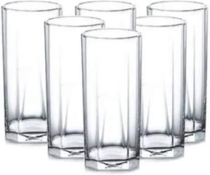 Joy2u  Pack of 6  1B02310. Ocean Pyramid hi Ball Water Juice Glass Set 300 ml Glass Set 300 ml, Glass