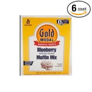 Gold Medal Blueberry Muffin Mix 6 Case 4.75 Pound by General Mills