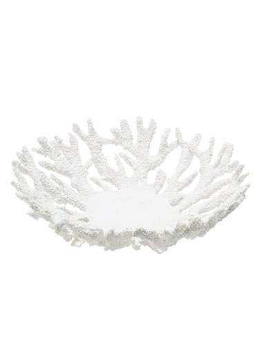 Abbott Collection Coral Bowl, White (Large) Collection Large Bowl