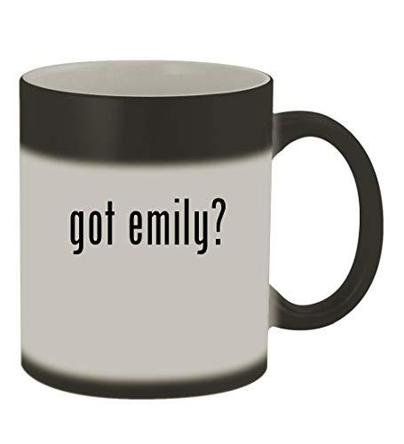 got emily? - 11oz Color Changing Sturdy Ceramic Coffee Cup Mug, Matte Black (Emily The Strange Doll)