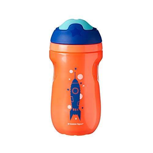 31SLAAP8N0L - Tommee Tippee Non-Spill Insulated Sippee Toddler Tumbler Cup, 12+ Months, 9 Ounce, 3 Count, Boy