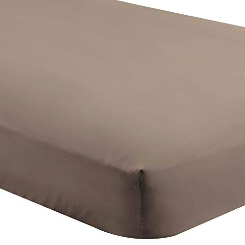 - Bare Home Fitted Bottom Sheet King - Premium 1800 Ultra-Soft Wrinkle Resistant Microfiber - Hypoallergenic - Deep Pocket (King, Taupe)