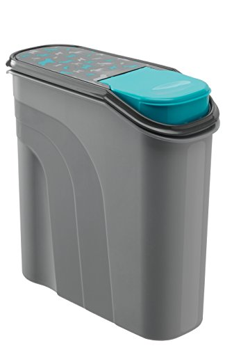Rotho Aufbewahrungsbox für Tierfutter aus Kunststoff (PP) - Trockenfutterbehälter für Hunde, Katzen, Vögel, Fische und andere Kleintiere - Schüttbehälter mit dichtem Deckel