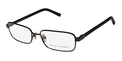 David Yurman 615 Mens/Womens Designer Full-Rim Shape Titanium Sleek Made In Japan Eyeglasses/Spectacles (55-17-135, Brown) (Brillen Made In Japan)