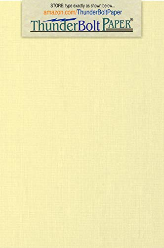 250 Ivory Linen 80# Cover Paper Sheets - 3