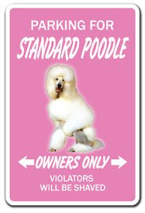 STANDARD POODLE Novelty Sticker dog pet gift parking French AKC breeder groomer (Dog Parking Pet Gift)