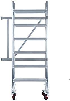 Andamio plegable de aluminio - plataforma sin trampilla - 3 m altura de trabajo: Amazon.es: Bricolaje y herramientas