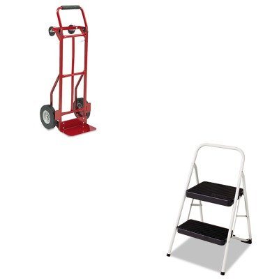 KITCSC11135CLGG1SAF4086R - Value Kit - Safco Two-Way Convertible Hand Truck (SAF4086R) and Cosco 2-Step Folding Steel Step Stool (CSC11135CLGG1) (Truck Way Hand Convertible Two)