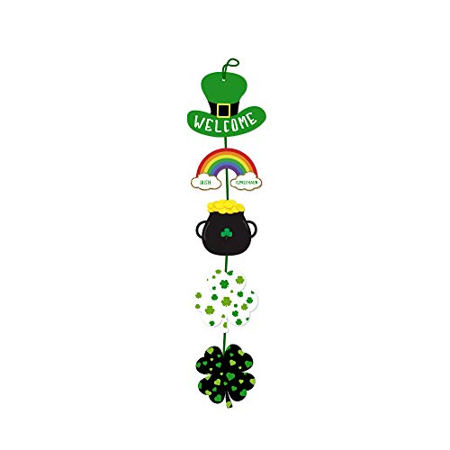 Shamrock Hanging Door Garland Welcome Sign for St. Patrick's Day Only $4.99