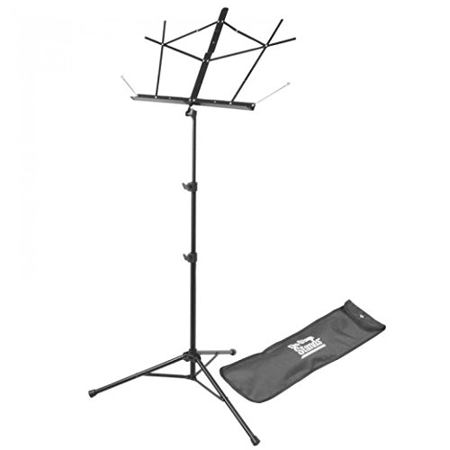 On Stage SM7122BB Folding Music Stand with Carrying Bag - Black