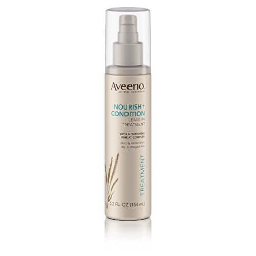 Aveeno Nourish+ Condition Leave-In Treatment, Replenish Damaged Hair, 5.2 Fl. Oz (Conditioning Spray)