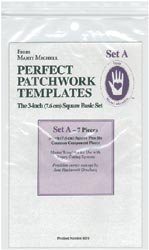 Marti Michell Perfect Patchwork Template-Set A - 3'' Basic Square Set 7/Pkg by Marti Michell