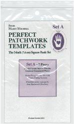 Marti Michell Perfect Patchwork Template-Set A - 3'' Basic Square Set 7/Pkg