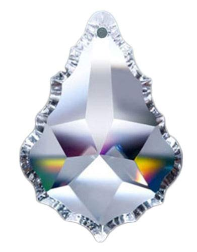 Asfour Crystal 911 Pendeloque Clear Crystal Prism, 2.5-Inch, 1 Hole , Box of 80 Pieces by ASFOUR CRYSTAL